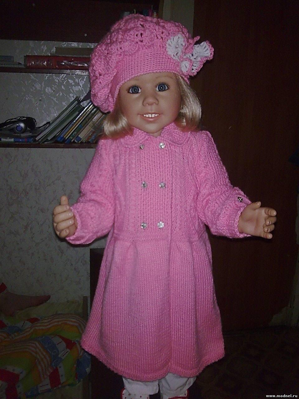 Детские вязаные пальто 42