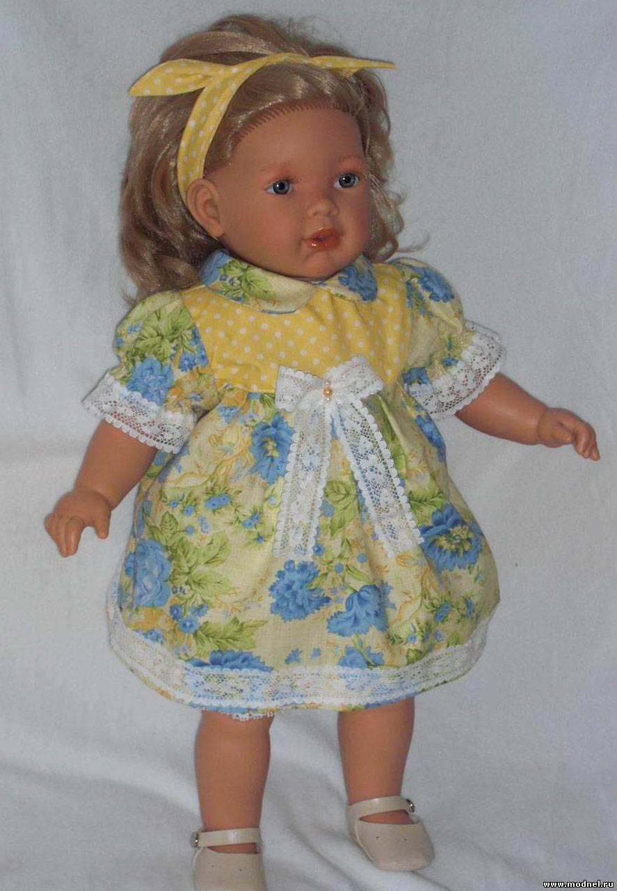 Платья для больших кукол своими руками 23